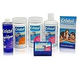 Cristal Poolpflege Set ohne Chlor / mit Aktiv-Sauerstoff