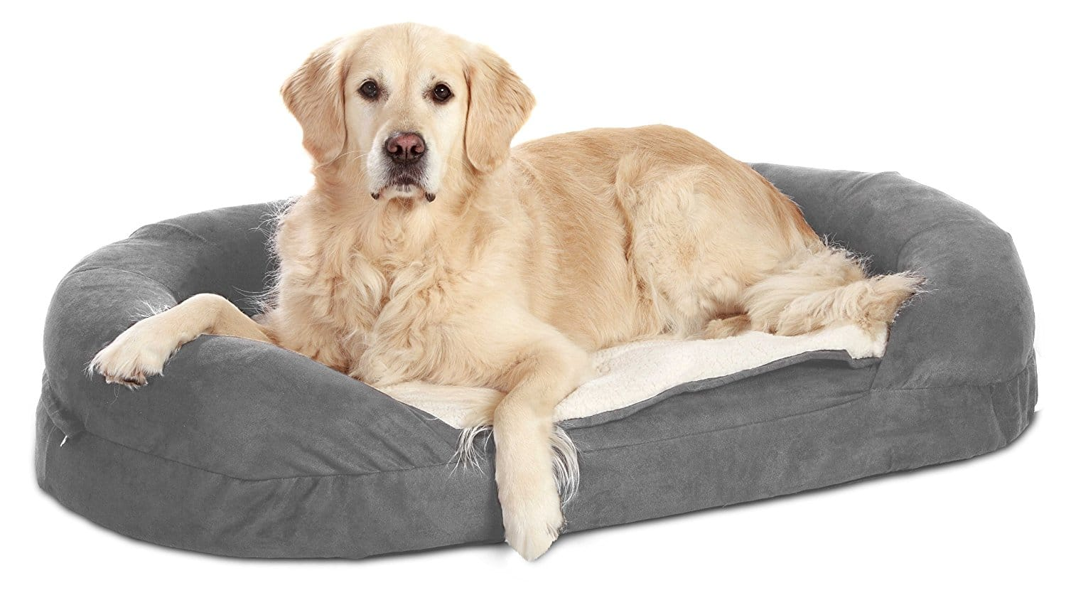 Karlie Flamingo Hundebett Ortho Bed Oval, grau