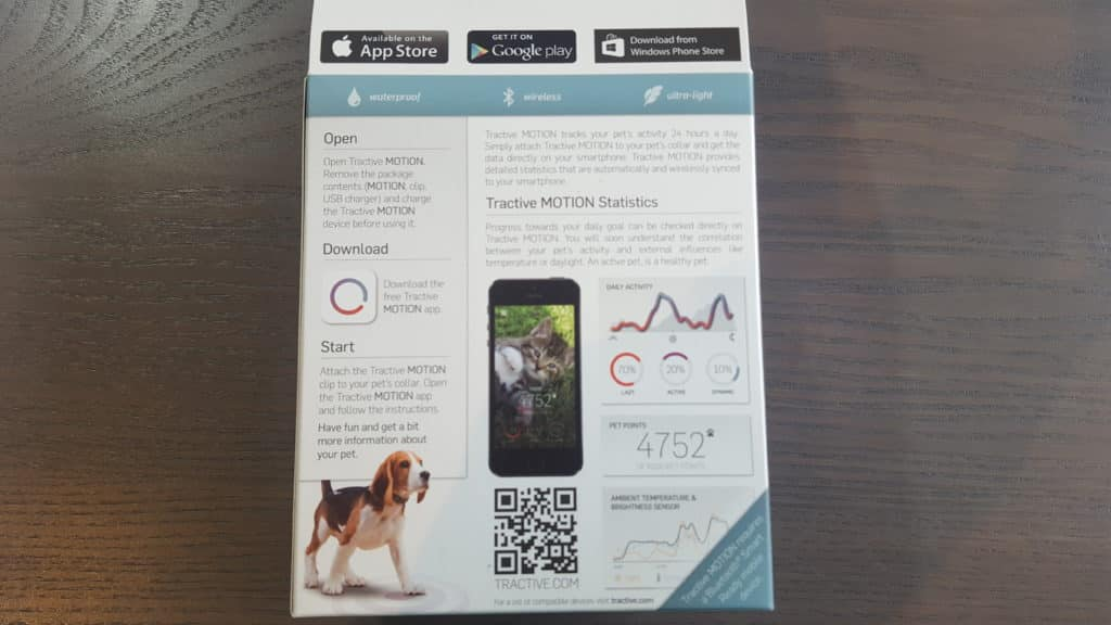 Verpackung-Tractive-Motion-Aktivitaetstracker