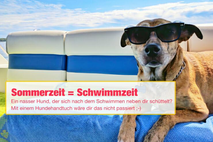 Hundehandtuch für den Sommer