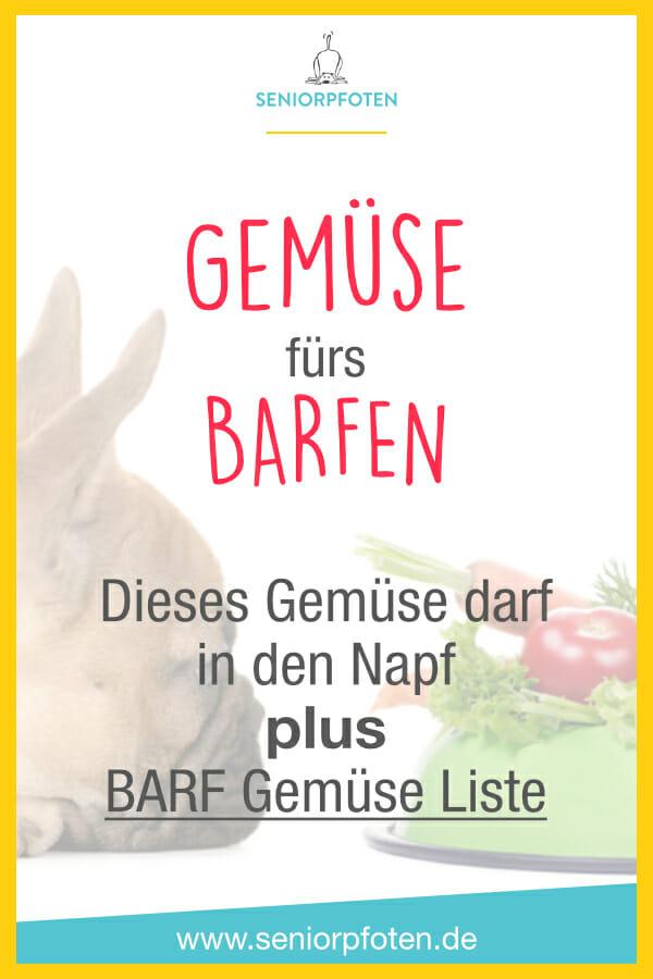 BARF Gemüse Liste