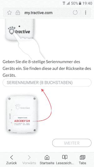 Tracker und App verbinden