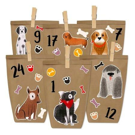 Hunde Adventskalender zum Selber befüllen